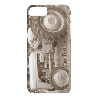 Vintage Grey tractor retro photograph iPhone 7 Case