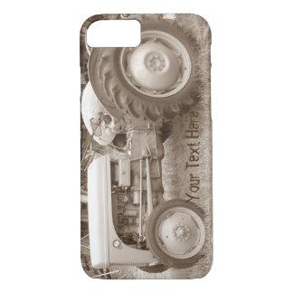 Vintage Grey tractor retro photograph iPhone 8/7 Case