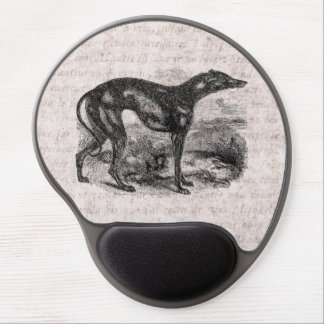 Vintage Greyhound Dog 1800s Greyhounds Dogs Gel Mouse Pad