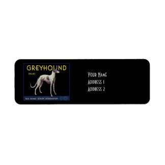 Vintage Greyhound Dog Lemon Label Circa 1920