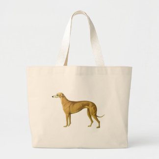 Vintage Greyhound Illustration Tote Bags