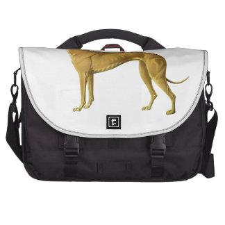 Vintage Greyhound Illustration Laptop Messenger Bag