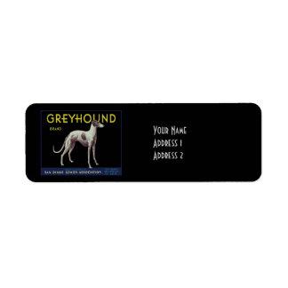 Vintage Greyhound Lemon Label Circa 1920
