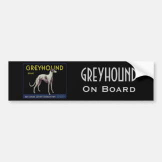 Vintage Greyhound Lemon Label Circa 1920 Bumper Sticker