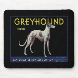 Vintage Greyhound Lemon Label Circa 1920 Mouse Pad
