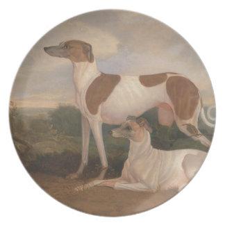 Vintage Greyhounds Dinner Plates