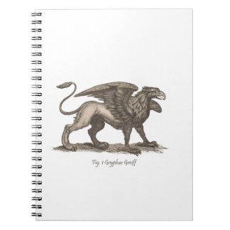 Vintage griffin (gryphus greiff) illustration. notebook