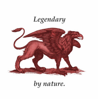 Vintage griffin illustration, legendary by nature cutout