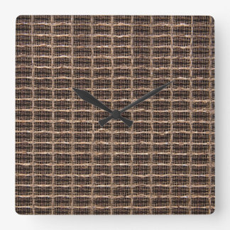 Vintage grill cloth square wall clocks