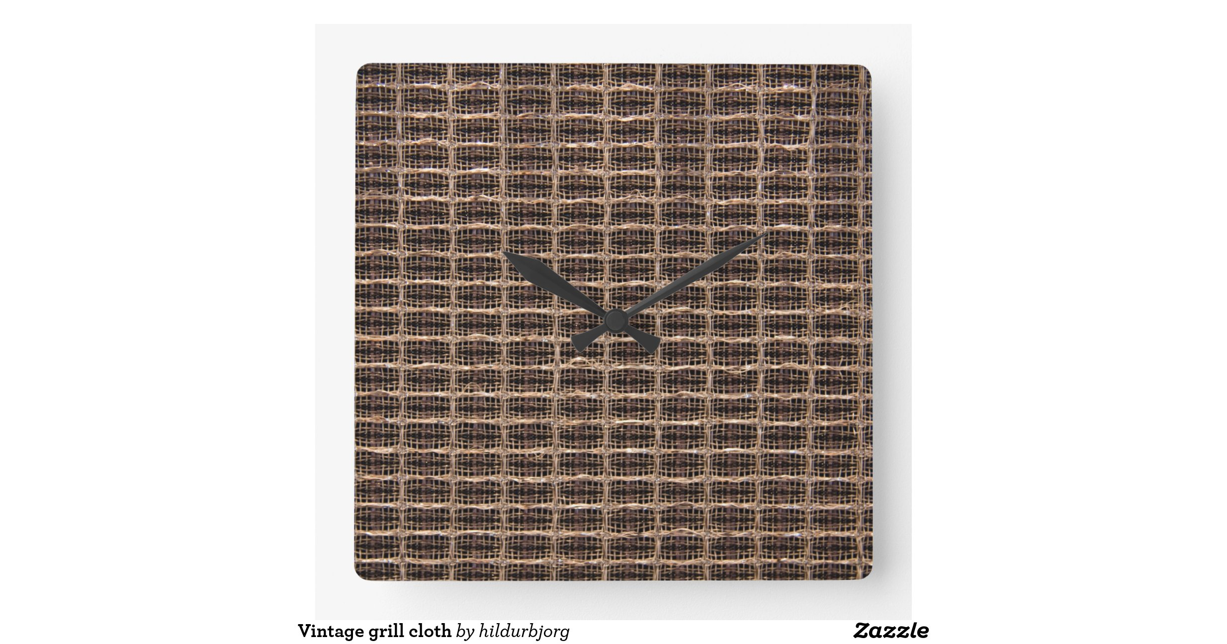 vintage grill cloth square wall clocks zazzle