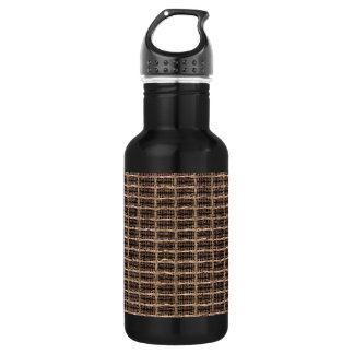 Vintage grill cloth stainless steel water bottle