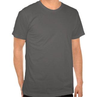 Vintage gris del texto envejecido a la camiseta de playera