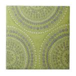 Vintage gris Patt fresco del círculo del verde de  Tejas Cerámicas