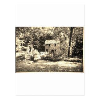 Vintage Grist Mill Postcard