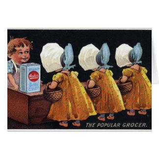 Vintage Groceries Greeting Cards