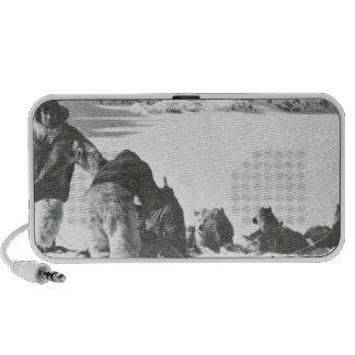 Vintage Groenlandia hacia fuera con los perros Altavoz De Viajar