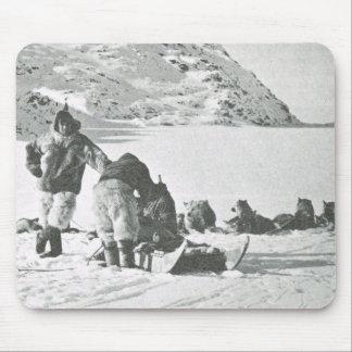 Vintage Groenlandia, hacia fuera con los perros Alfombrilla De Ratones