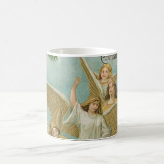 Vintage Group of Christmas Angels Coffee Mug