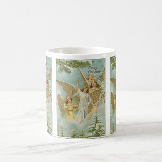 Vintage Group of Christmas Angels Coffee Mug