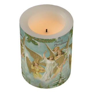 Vintage Group of Christmas Angels Flameless Candle