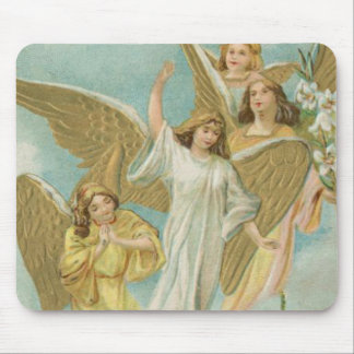 Vintage Group of Christmas Angels Mouse Pad