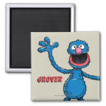 Vintage Grover Imán Cuadrado