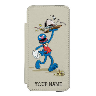 Vintage Grover the Waiter | Add Your Name iPhone SE/5/5s Wallet Case