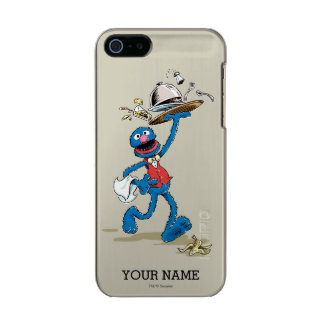 Vintage Grover the Waiter | Add Your Name Metallic Phone Case For iPhone SE/5/5s