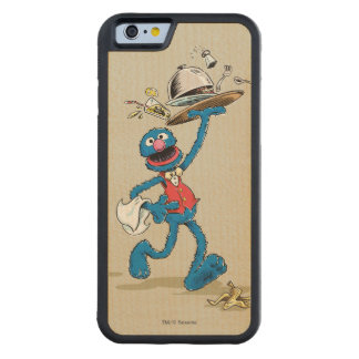 Vintage Grover the Waiter Carved® Maple iPhone 6 Bumper Case