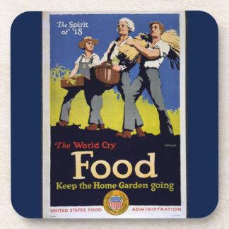 Vintage Grow Food coaster