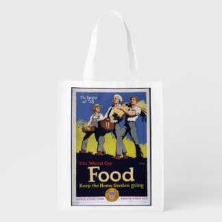 Vintage Grow Food reusable bag Market Totes