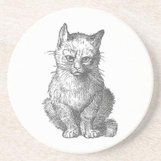 Vintage Grumpy Cat Design Drink Coaster