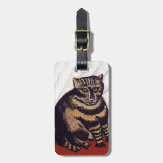 Vintage Grumpy Cat Travel Bag Tag