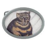 Vintage Grumpy Cat Oval Belt Buckle