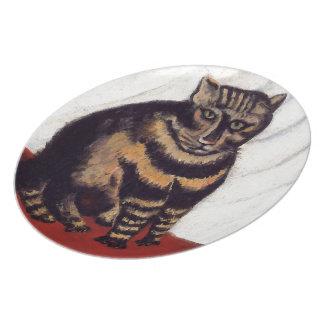 Vintage Grumpy Cat Party Plate