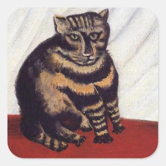 Vintage Grumpy Cat Square Sticker