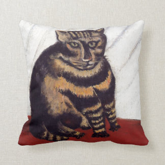 Vintage Grumpy Cat Throw Pillow