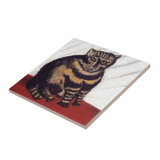 Vintage Grumpy Cat Ceramic Tile