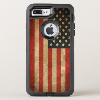 Vintage Grunge American Flag America Patriotic OtterBox Defender iPhone 7 Plus Case