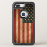 """Vintage Grunge American Flag America Patriotic OtterBox Defender iPhone 8 Plus/7 Plus Case<br><div class=""""desc"""">Decorate your iPhone in Style with this &quot;Vintage Grunge American Flag USA Patriotic&quot; Stylish Case!</div>"""