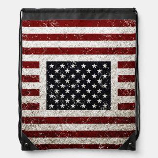 Vintage Grunge American Flag backpack