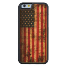 Vintage Grunge American Flag Carved Cherry Iphone 6 Bumper Case at Zazzle