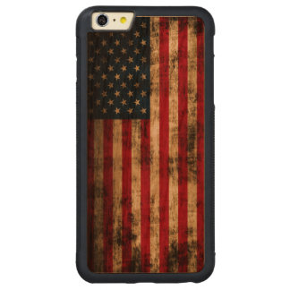 Vintage Grunge American Flag Carved® Cherry iPhone 6 Plus Bumper