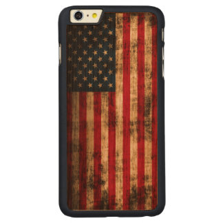 Vintage Grunge American Flag Carved® Cherry iPhone 6 Plus Slim Case