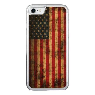 Vintage Grunge American Flag Carved iPhone 8/7 Case