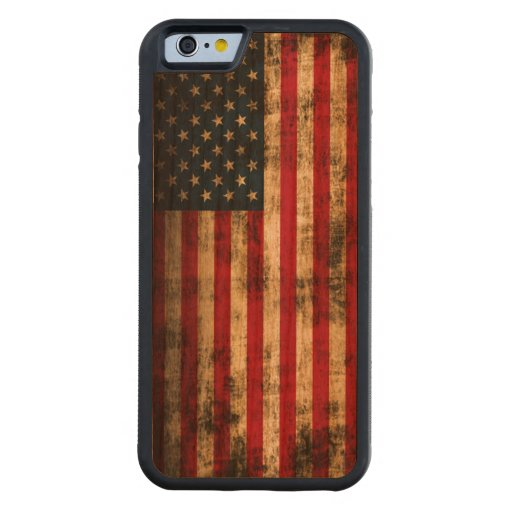 Vintage Grunge American Flag Carved® Cherry iPhone 6 Bumper Case
