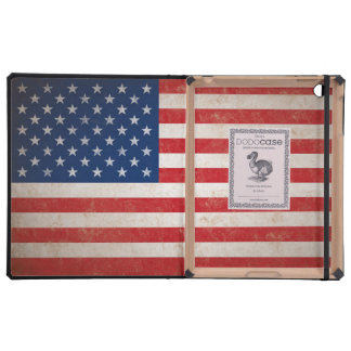 Vintage Grunge American Flag iPad Cases