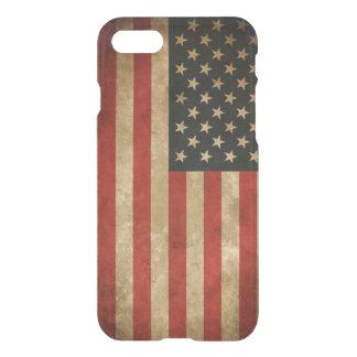 Vintage Grunge American Flag Pattern USA Patriotic iPhone 8/7 Case