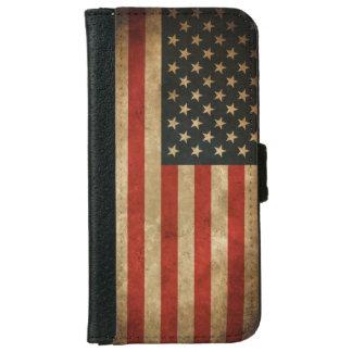 Vintage Grunge American Flag - USA Patriotic iPhone 6/6s Wallet Case