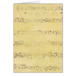 Vintage Grunge Antique Musical Notes Greeting Card
